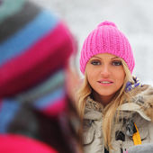 Winter women — Stock Photo
