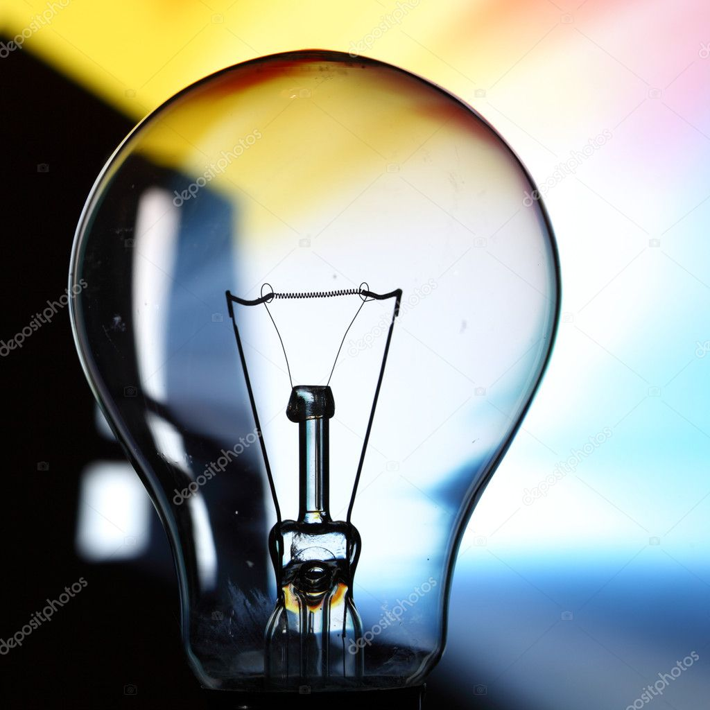 Bulb on abstract background macro close — Stock Photo #7471831