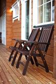 Wooden armchairs — Stock Photo