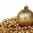 Golden christmas ball — Stock Photo #7534531