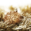 Golden christmas ball — Stock Photo #7534541