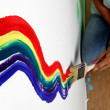 Rainbow paint — Stock Photo