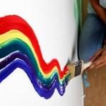Rainbow paint — Stock Photo #7534865