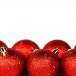 Red christmas ball — Stock Photo #7534884