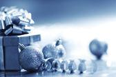Cartolina di Natale blu — Foto Stock