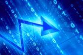 Spazio dati blu — Foto Stock
