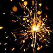Christmas sparkler — Photo
