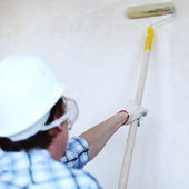 Roller on the wall — Stock Photo