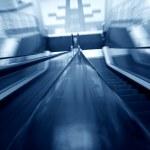 Blurred escalator — Stock Photo