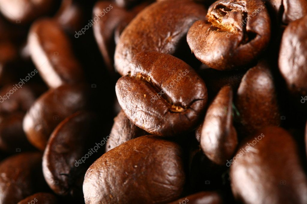 Coffee beans detailed macro close up — Stock Photo #7684409