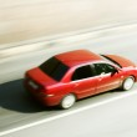 Speed car drive — Stock Photo