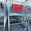 Shoping carts — Stockfoto