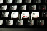 Keyboard yes key — Stock Photo