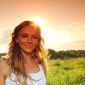 Sunrise girl — Stock Photo