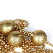 Golden christmas ball — Stock Photo #7860542