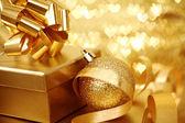 Zlaté vánoce — Stock fotografie