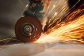 Metal sawing — Stock Photo