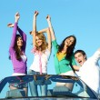 Joy in cabriolet — Stock Photo #7890972