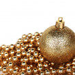 Golden christmas ball — Stock Photo #7907602