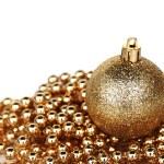 Golden christmas ball — Stock Photo
