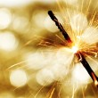 Sparkler on bokeh background — Foto de Stock