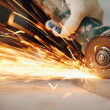 Metal sawing - Stockfoto