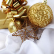Gold christmas ball — Stock Photo #7908017