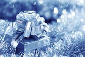 Blue christmas card — Stockfoto