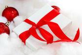 Cadeau de noël blanc — Photo