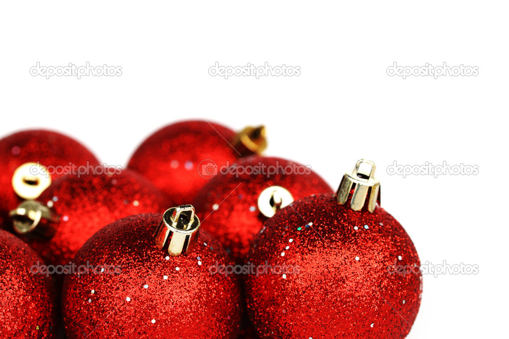 Red christmas ball isolated on white background  Stock Photo #7907846