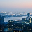 Rotterdam night aerial view — Stock Photo #7351293