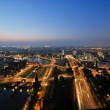 Rotterdam night aerial view — Stock Photo #7351295