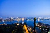 Rotterdam night aerial view — Stock Photo