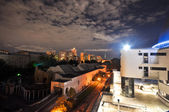 Night view of the Moscow Zoo from the Planetarium. Moscow.JPG — Stock Photo