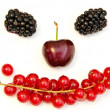 Funny face from different berries on a white background — Stock Photo #7801663