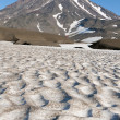 Koryaksky  volcano in Kamchatka and snowfields — Stock Photo