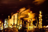 Factory at night — Stock Photo