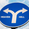 Heaven and Hell sign — Stock Photo #7284966