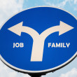 Job and Family sign — Stock Photo #7285029