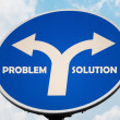 Stock Photo: Problem and Solution sign