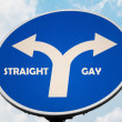 Straight and Gay sign — Stock Photo