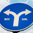 Boy and Girl sign — Stock Photo #7286033