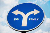 Job and Family sign — Stock Photo