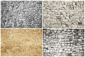 Bricks and blocks - textures — Stock Photo