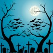 Cemetery — Stock Vector
