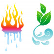 Vector Icons natural elements — Stock Vector