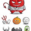 Vector de stock : Vector caricatures of monsters