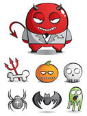 Vector caricatures of monsters — Vector de stock