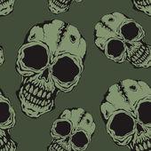 The pattern of skulls — Stock Vector