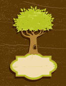 Vintage illustration of the tree — Stock Vector